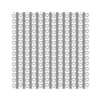 Patrón de iconos de corazón mexicano sobre un fondo blanco. vector