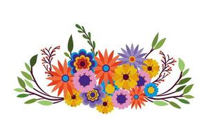 Flowers of many colors icon on white background vector