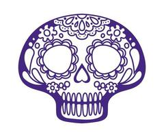 Skull of dead day over a white background vector
