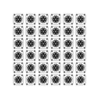 Mexican sunflower icons pattern over white background vector