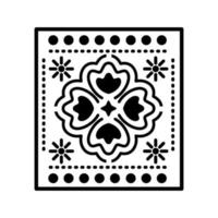 Mexican clover icon with small suns vector