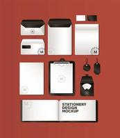 Mockup set with black branding design
