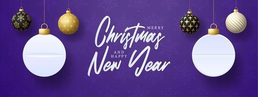 adornos navideños colgantes y diseño de tableta de píldoras