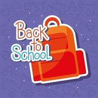 diseño de mochila de regreso a la escuela