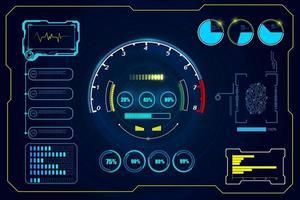 Futuristic HUD interface background