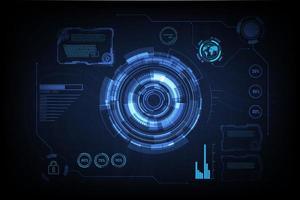 HUD futuristic technology interface vector