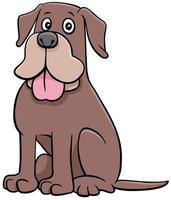 divertido, caricatura, perro, animal, carácter
