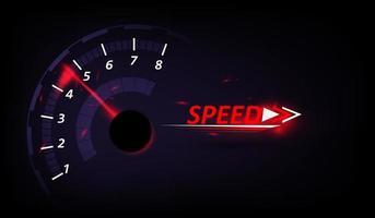 Fondo de movimiento de velocidad con velocímetro. vector