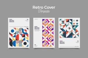 cubiertas de diseño retro vector