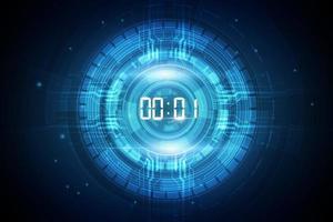Fondo abstracto de tecnología futurista con concepto de temporizador numérico digital y cuenta regresiva, vector transparente