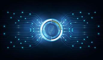 Tecnología abstracta background.security concepto de sistema con huella digital letra p sign.vector ilustración