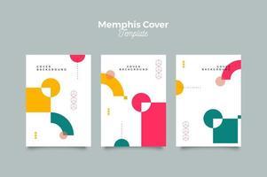 Memphis Geometric Cover Template vector