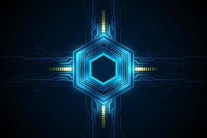 patrón de ciencia ficción futurista hexagonal
