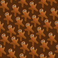 Christmas Holiday Gingerbread Man Seamless Pattern