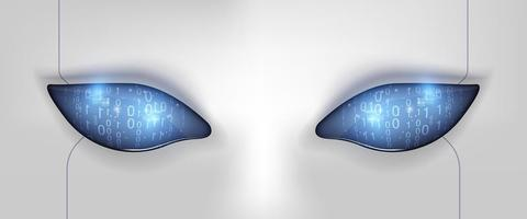 Eye of the robot. Futuristic HUD interface vector
