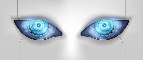 ojo del robot. interfaz de hud futurista, ilustración vectorial