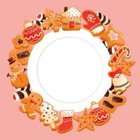 Super Cute Gingerbread Christmas Cookies Copy Space Design
