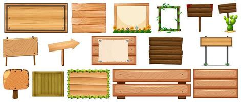 Set of various type of sign banner vector