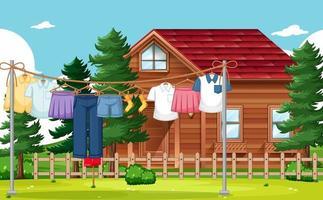 secado de ropa y colgando fondo al aire libre