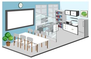 Office room and meeting room interior with furniture