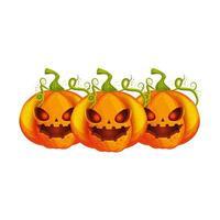espeluznante composición de calabazas de halloween