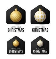 tarjetas de navidad de lujo feliz hogar con adornos de bolas ornamentales