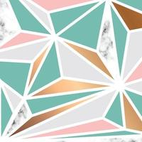 Marble texture design with geometric shapes vector