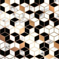 Marble texture design with golden geometric lines
