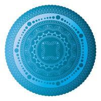 Mandala of color sapphire blue vector