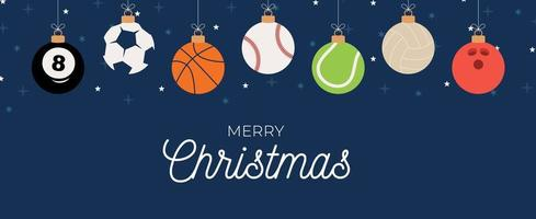 banner de navidad de adorno deportivo