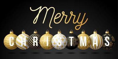 banner de adorno de bola de feliz navidad de lujo