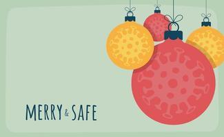 concepto de navidad de adorno de bola de coronavirus