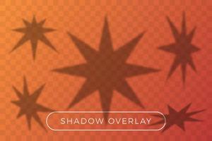 Shadow overlay star set vector