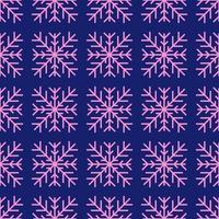 Geometric winter snowflake seamless pattern