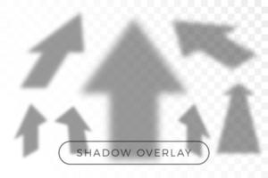 Arrow shadow overlay set vector