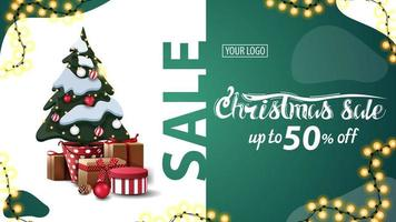 Christmas discount banner vector