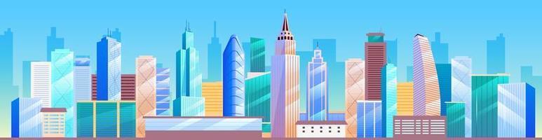El horizonte de la ciudad. metrópoli