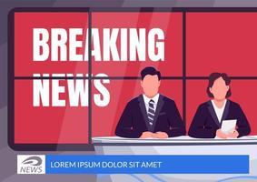 Breaking news banner vector