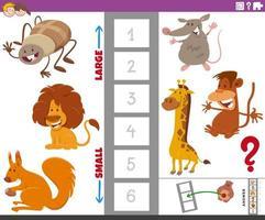 tarea educativa con especies animales