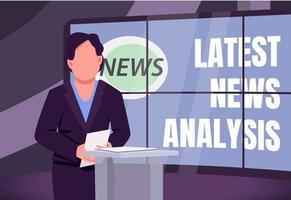 Latest news analysis banner vector