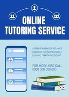 cartel de tutoría en línea vector