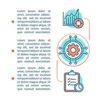 plantilla de página de artículo de gestión vector
