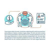 concepto de habilidades de comunicación vector
