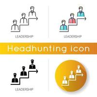 Leadership icon set vector