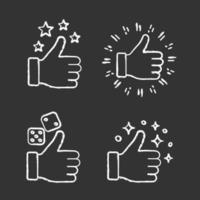 Like chalk icons set. vector
