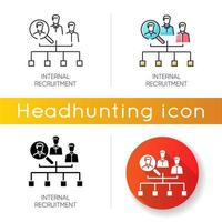 Internal recruitment icons vector