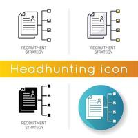 Recruitment strategy icon. vector