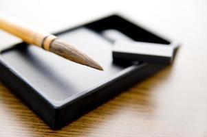 Brush and ink stone