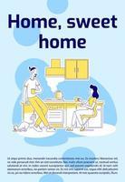 cartel de hogar dulce hogar vector