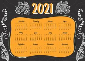diseño de calendario de año nuevo 2021 de estilo moderno en estilo geométrico vector
